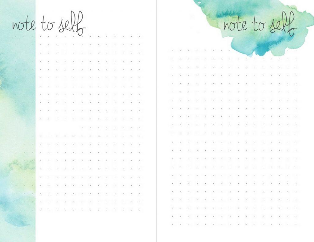 teal watercolor printable dot paper