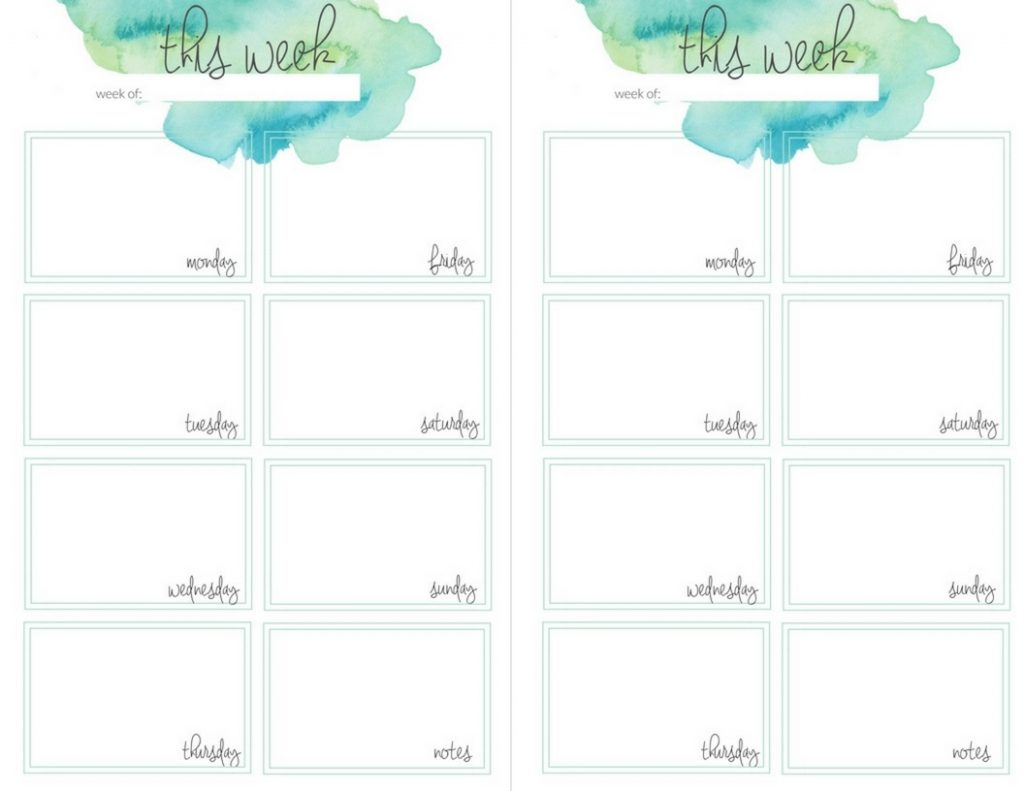 Planner Printables - The Crazy Craft Lady