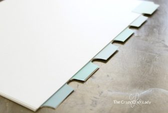 DIY Binder Tabs made from Paint Chips