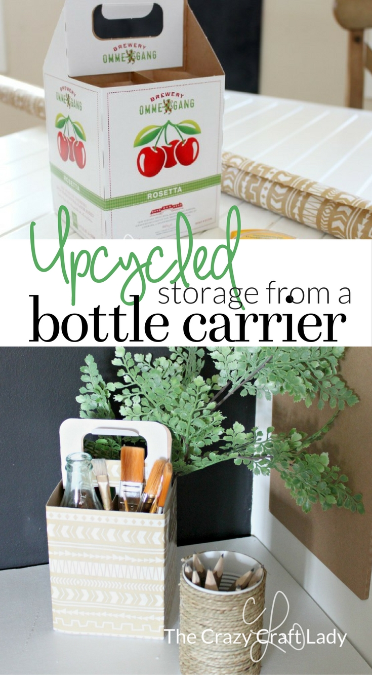 See How To Make Your Own DIY Organizer With This Tutorial For A Cardboard Bottle Carrier