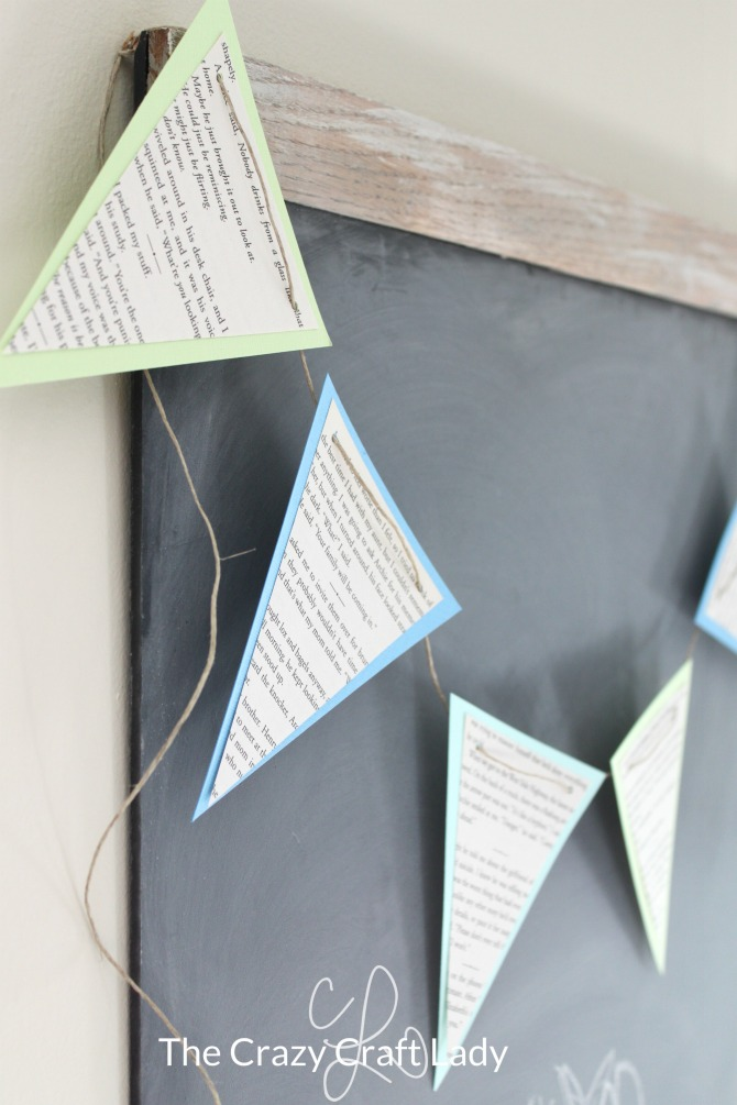 Make a Book Page Pennant Banner for Spring