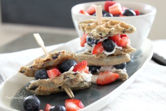 Berry Waffle Sandwiches