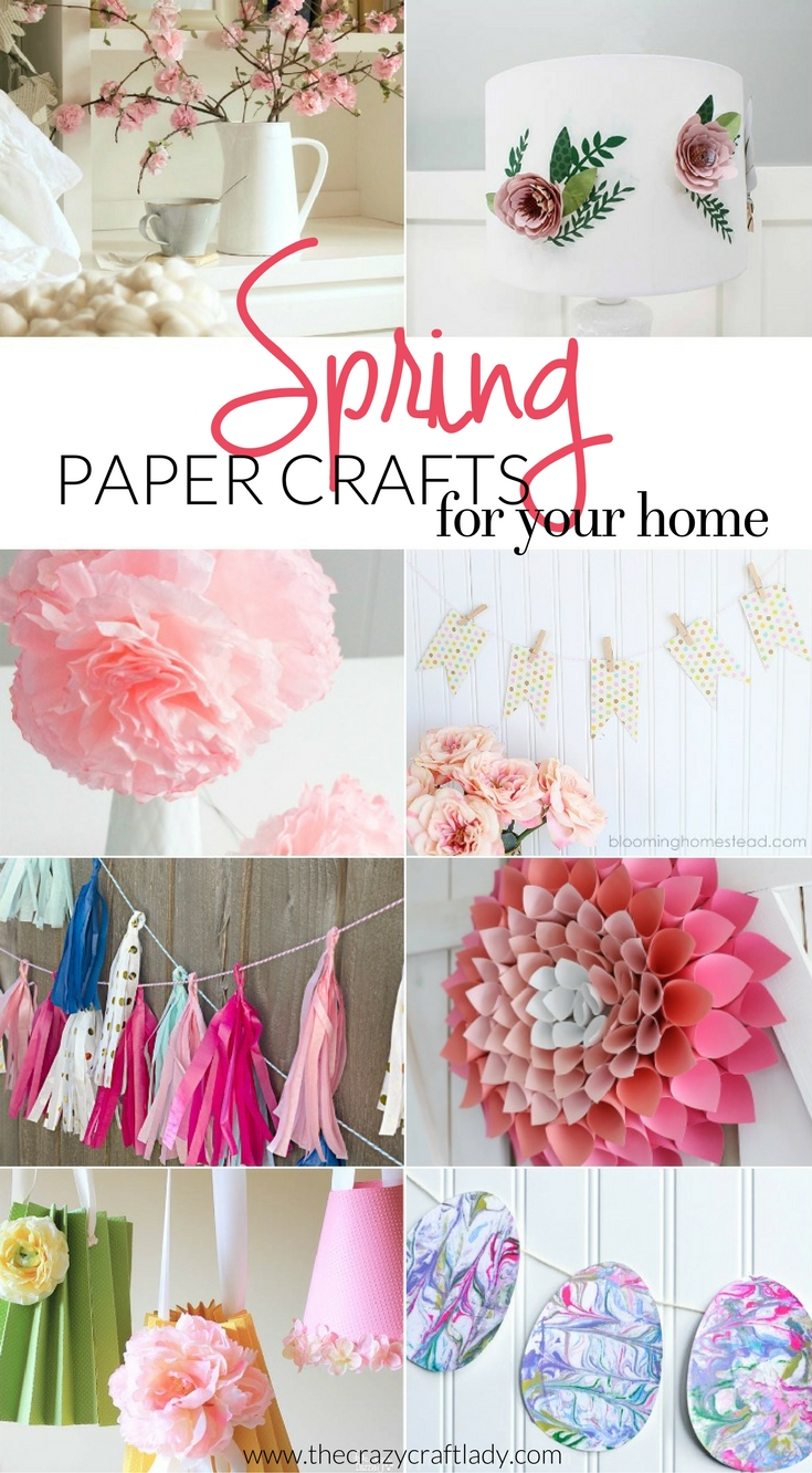 Get inspired with these Spring Paper Crafts for Your Home - these are the best DIY and craft ideas for spring... featuring just paper!