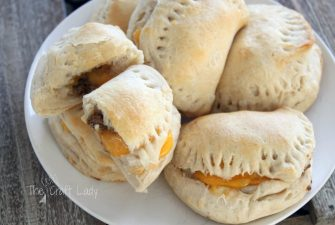 Cheeseburger Pockets made from Biscuit Dough