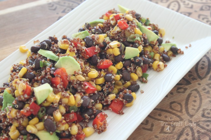 This Southwest Black Bean Salad is the perfect cold salad to pack for lunches or enjoy on the weekend - Vegan - Gluten Free - and oh so yummy!