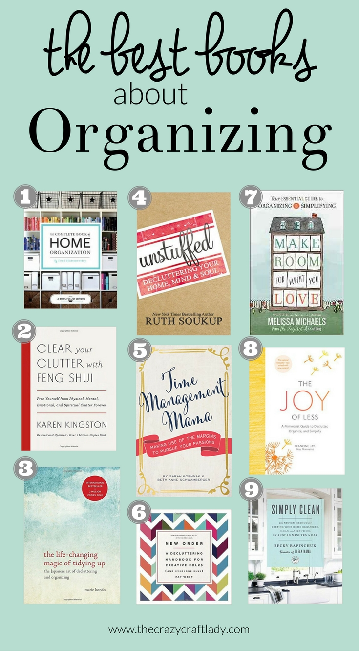 The best organizing books the crazy craft lady for Best craft books 2017