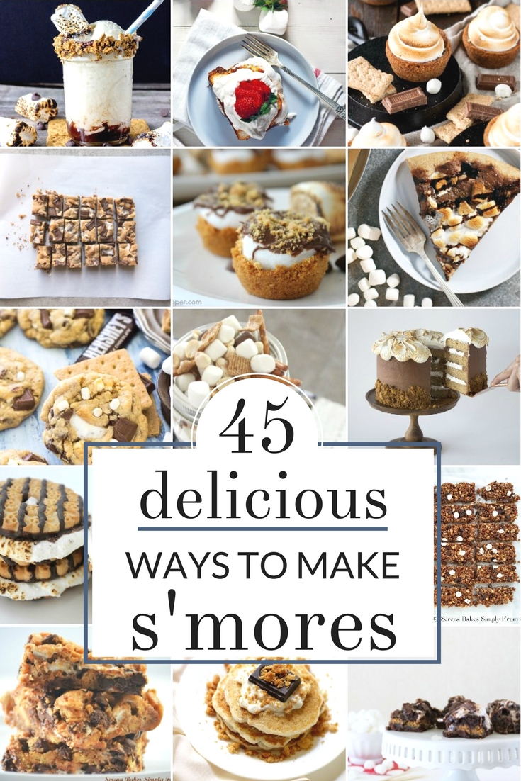 Mouth Watering S'Mores Recipes - There are so many inventive and creative ways to make s'mores along with delicious s'mores recipes. I can't wait to try some of these ideas this Summer - no campfire required!