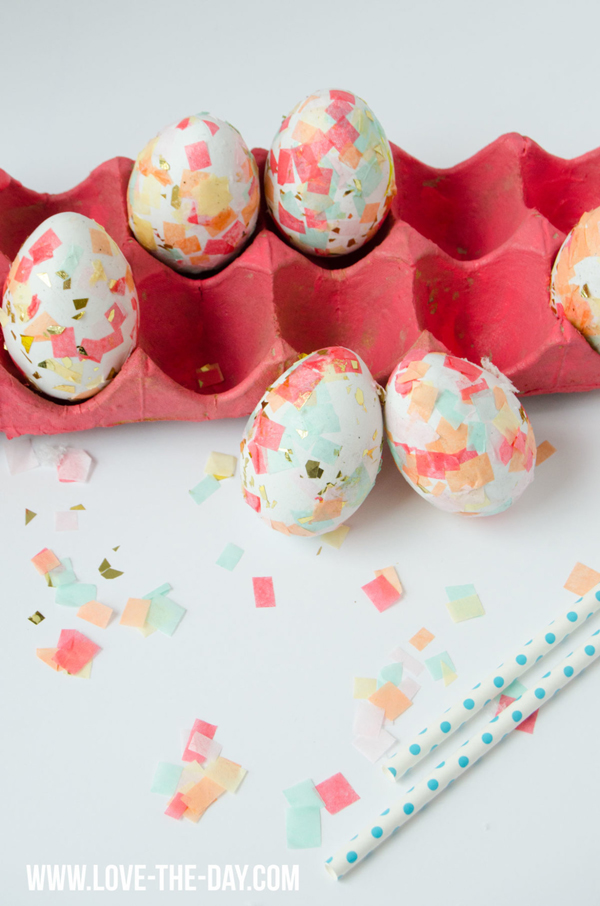 Beautiful Easter Eggs you Need to Try this Spring - DIY Confetti Easter Eggs