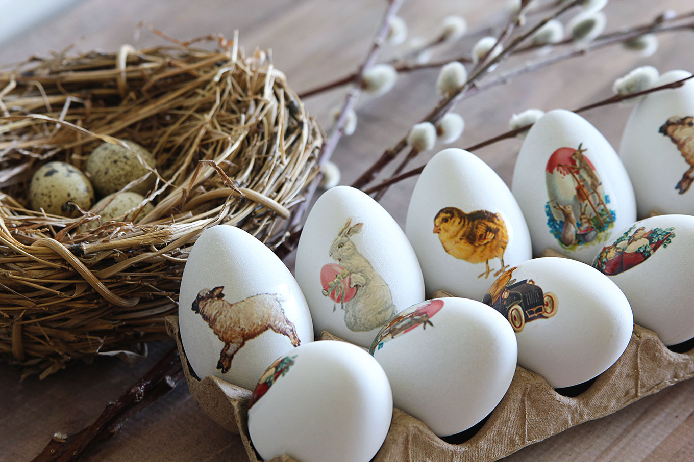 Beautiful Easter Eggs you Need to Try this Spring - DIY Temporary Tattoo Easter Eggs