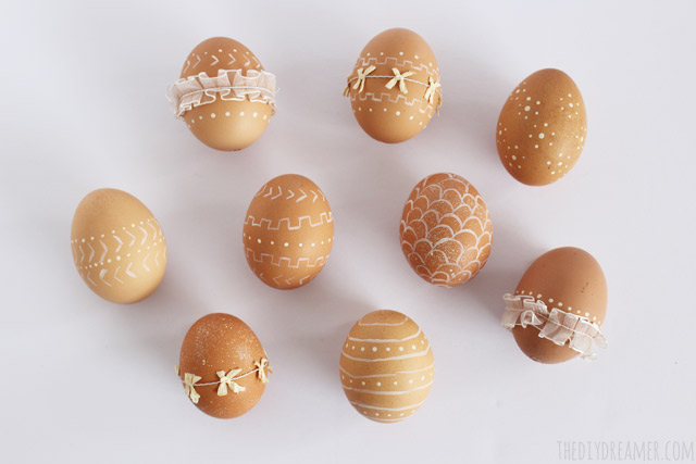 Beautiful Easter Eggs you Need to Try this Spring - Decorative Eggs with Paint and Ribbon