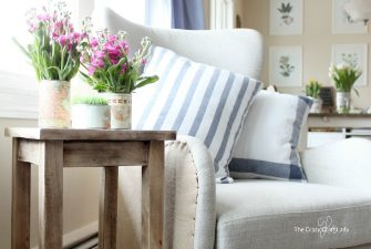 Easy Pillow Covers Made from Dish Towels