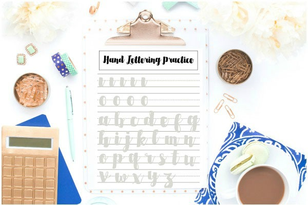 Hand Lettering Practice - I'm always on the hunt for new craft ideas. Check out some of these amazing craft ideas and craft projects that are on my crafting radar right now!