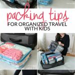 Come learn how to stay organized when traveling with kids. I'm sharing my favorite practical tips, tricks, and products for organized traveling and keeping all of the kids things tidy without losing your mind!
