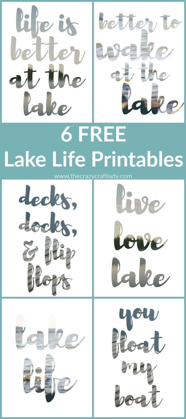 Download these FREE Printables with my favorite summer captions - Update your gallery frames or office walls with a little summer inspiration!