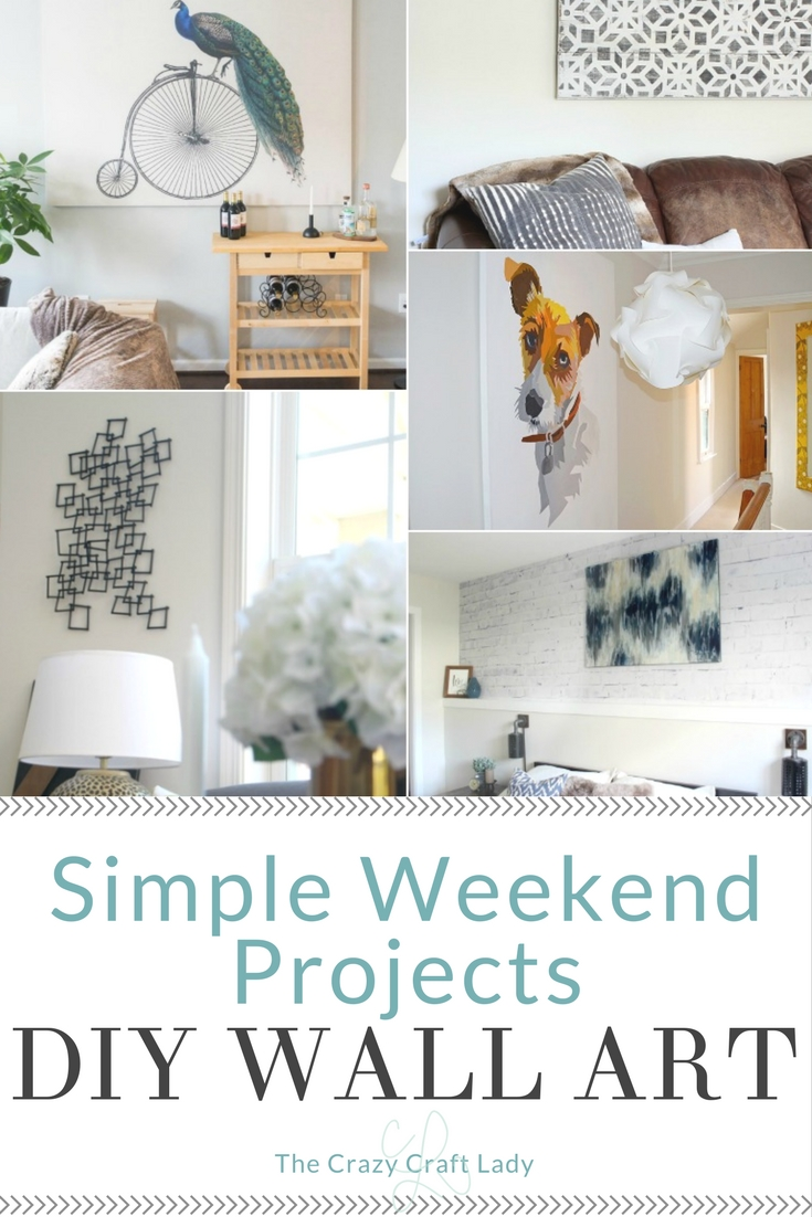 Simple art projects you can make this weekend the crazy Simple wall art