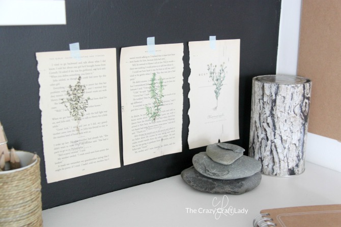 Learn how to print almost anything on book pages! Follow this easy DIY tutorial to make your own book page botanical prints.