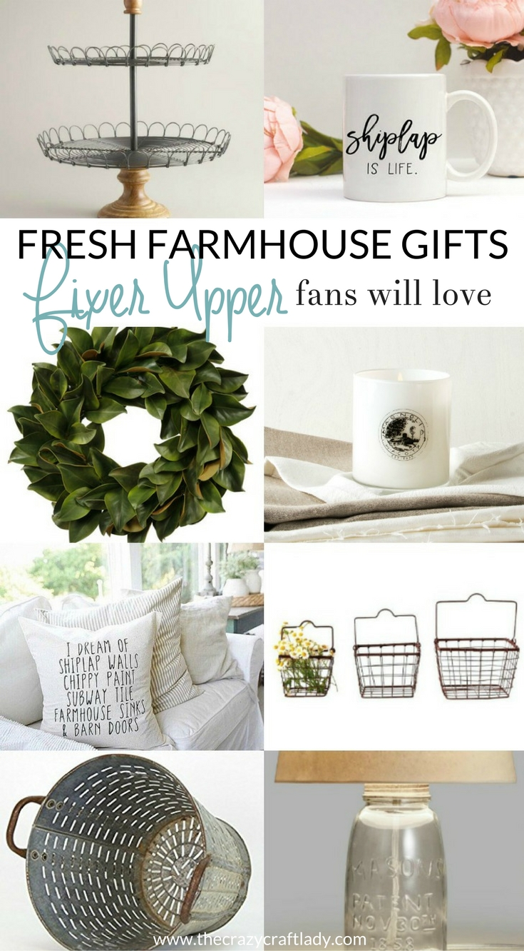 The ultimate list of Fixer Upper Gift Ideas. Do you have a Fixer Upper fan in your life? Do you need to buy them a gift? Browse this gift guide to pick the perfect present for your Fixer Upper fan! If they love Chip + Joanna Gaines, they will love these fresh farmhouse inspired gifts.