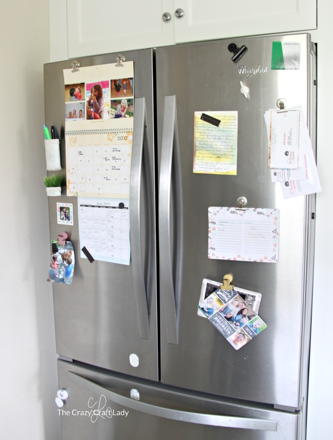 Organized Fridge Family Command Center