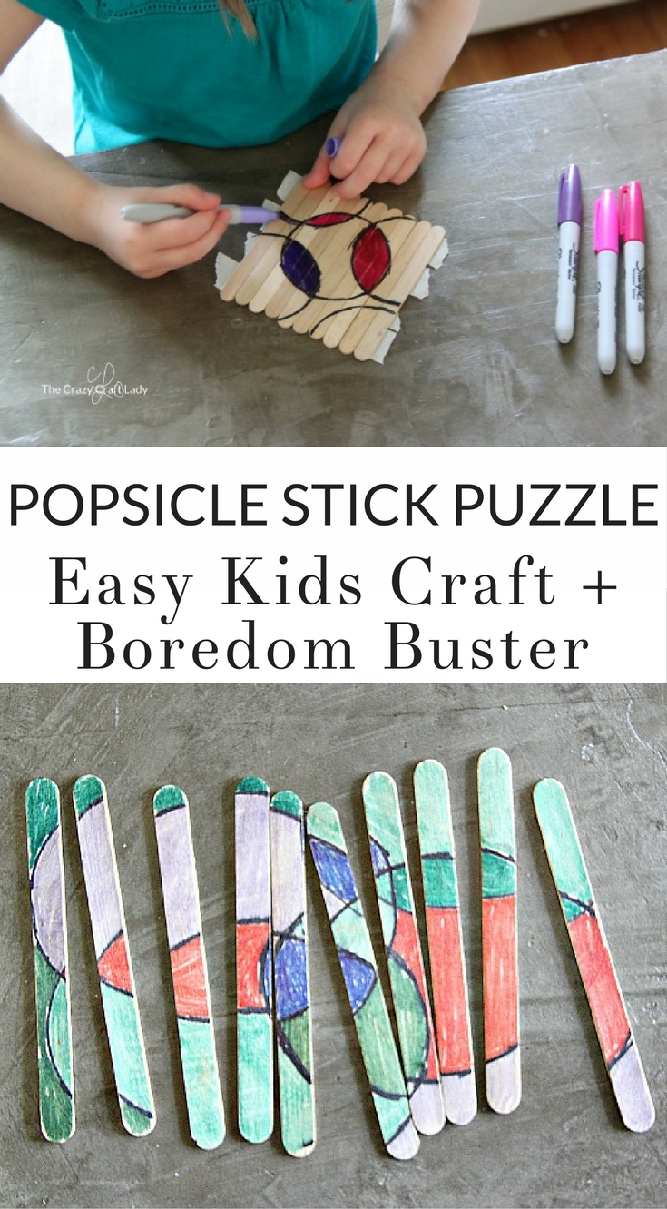 Make a Popsicle Stick Puzzle – a Quick Kids Craft