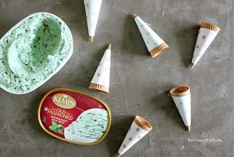 Ice Cream Cone Wrappers (FREE Printable + Exciting Ice Cream News)