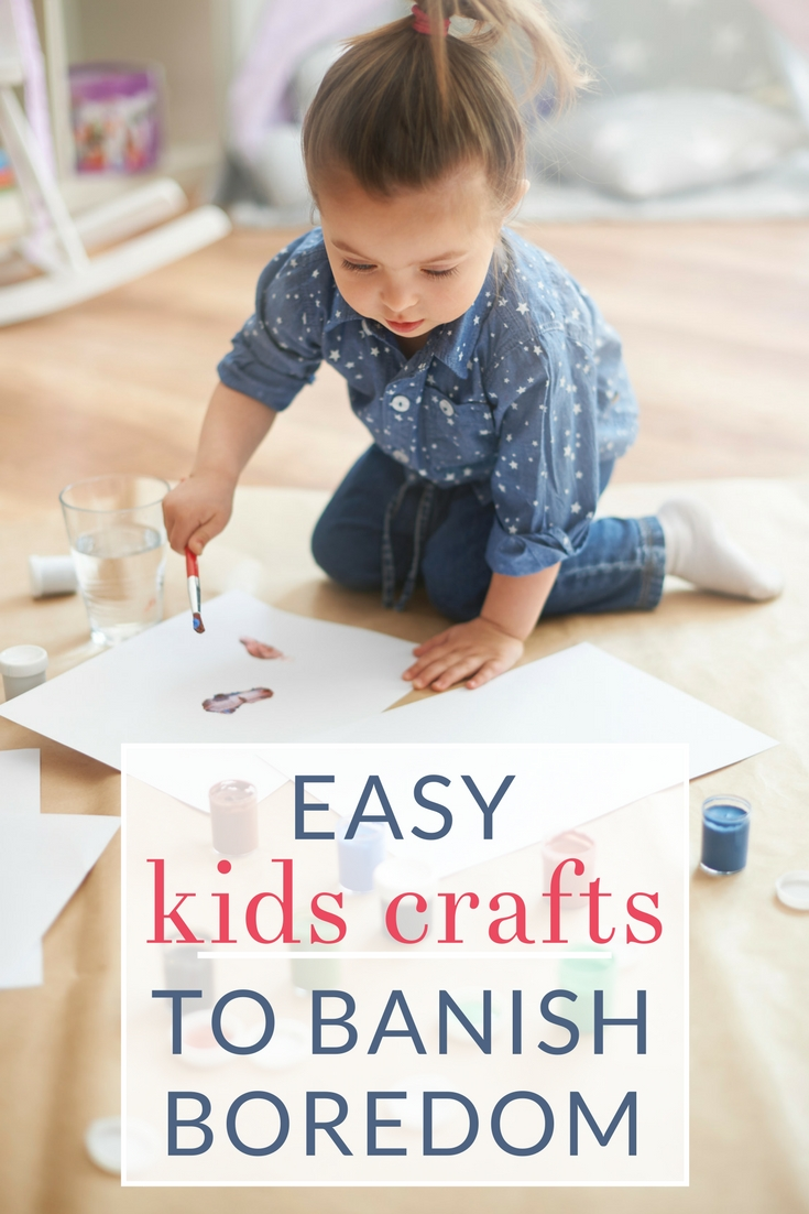 The best simple kids crafts and boredom busters the for Crafts to do when bored pinterest