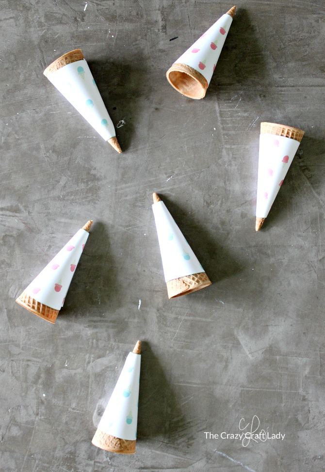 printable sugar cone wrappers for summer