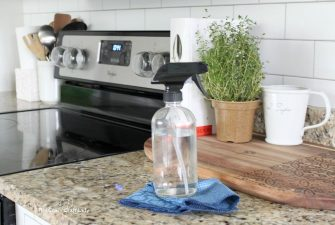 My Go-To Natural All Purpose Cleaner + Kitchen Cleaning Tips