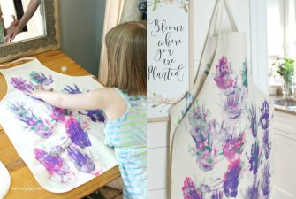 DIY a Cute Personalized Kids Apron with Little Hand Prints