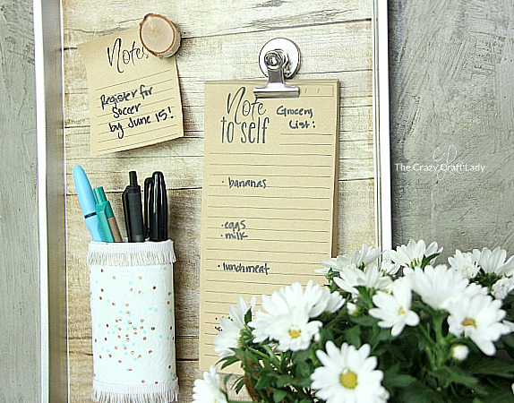 Simple Family Command Center from Dollar Store cookie Sheet