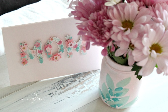 DIY Decoupage Mother's Day Vase