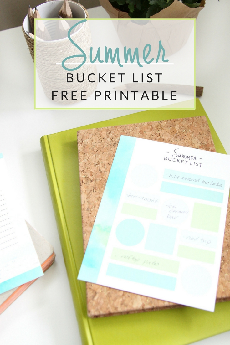 Print off these FREE Summer Bucket List printables and make your own summer to do list! Get started with my list of 73 summer ideas!