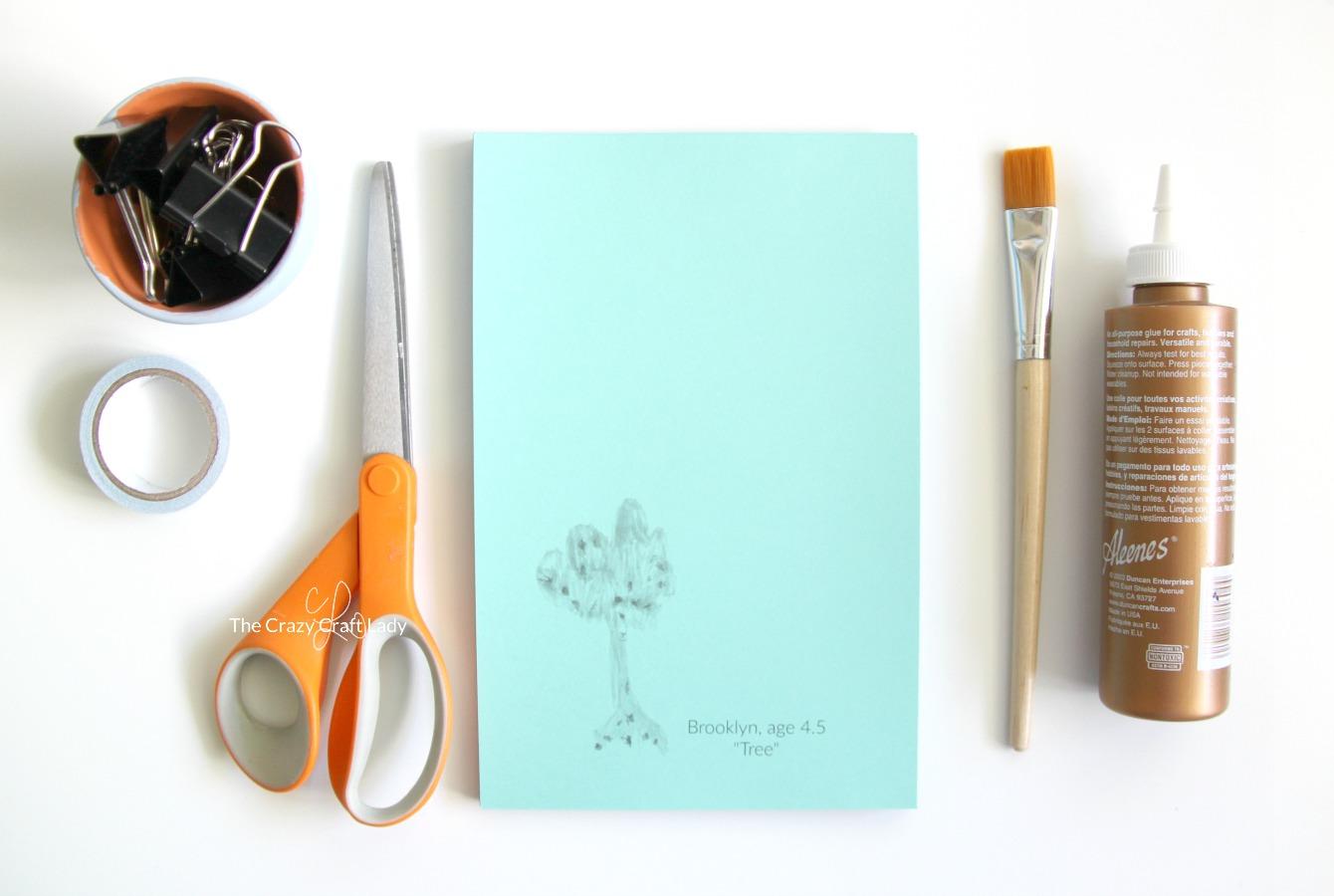 Make a Custom DIY Notepad Using Kids Artwork - The Crazy ...