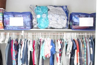 How to Store and Label Winter Clothing using Space Bags and Totes