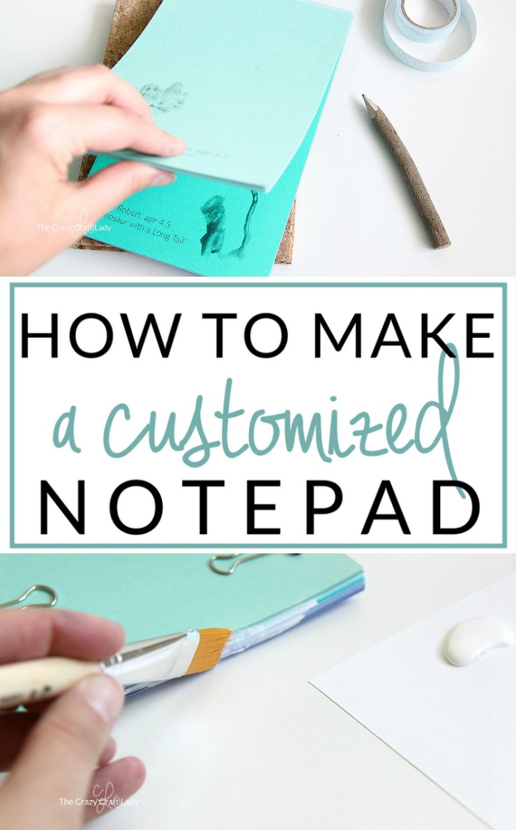 Make a Custom DIY Notepad Using Kids Artwork
