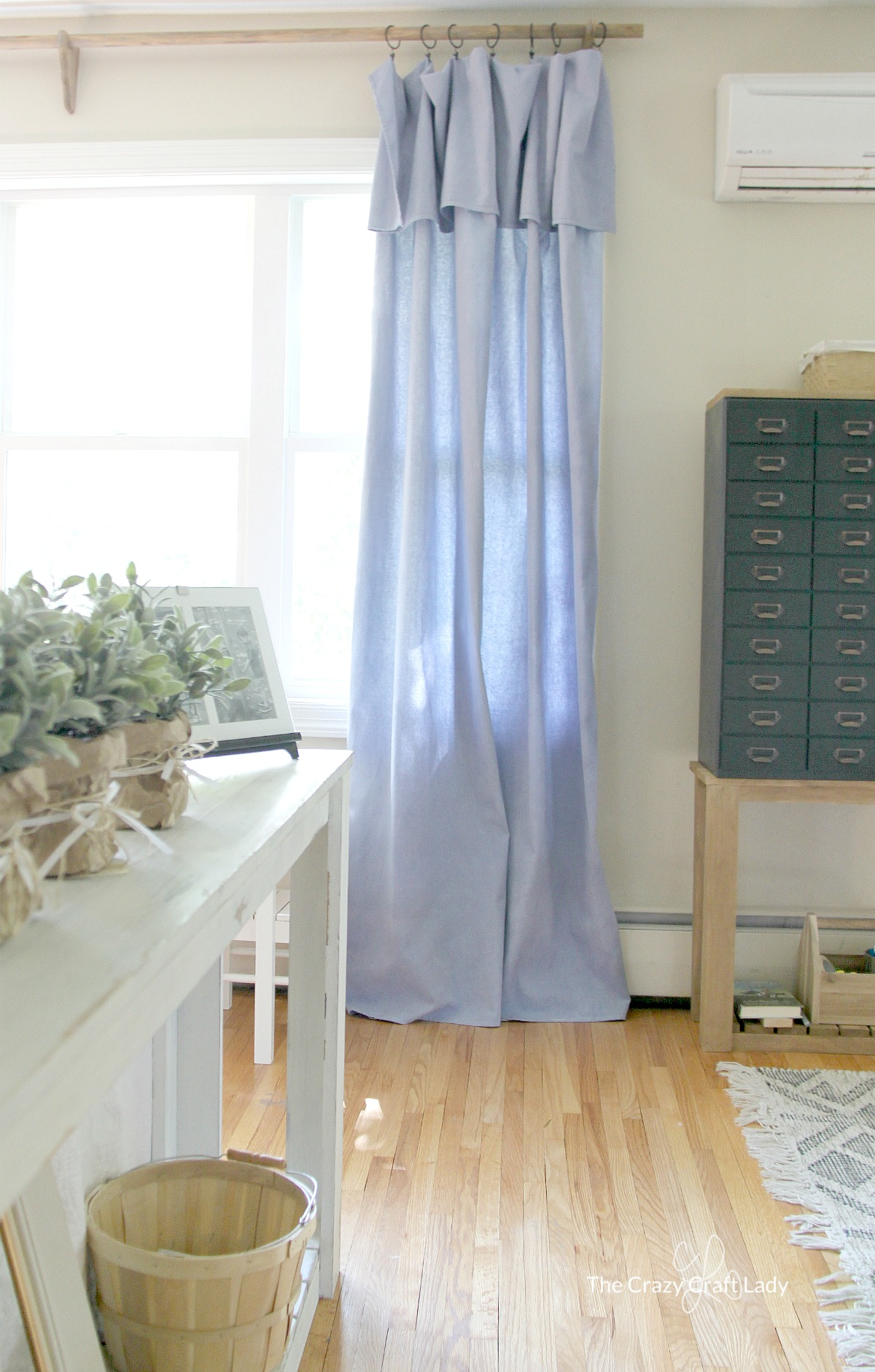 Diy No Sew Drop Cloth Curtains A Cheap Diy Curtain Rod