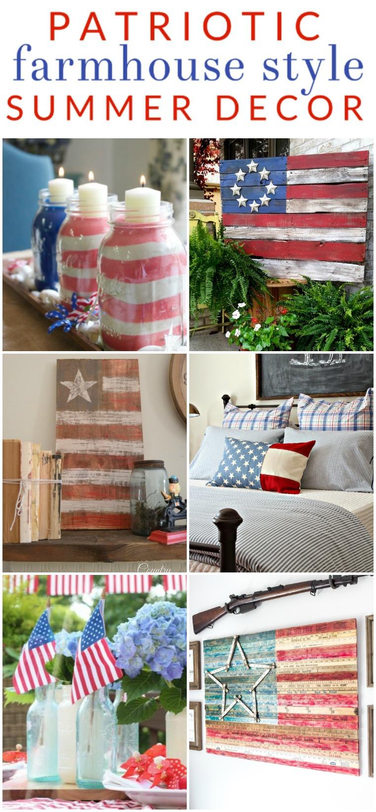 American flag crafts farmhouse decor all summer long for American flag bedroom ideas