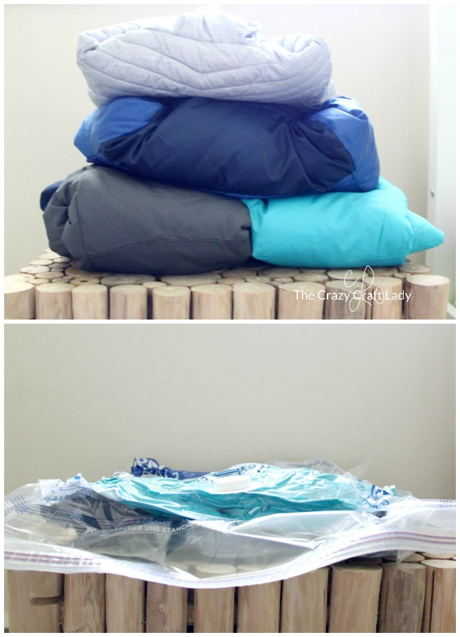 Using Space Bags to Store Winter Coats