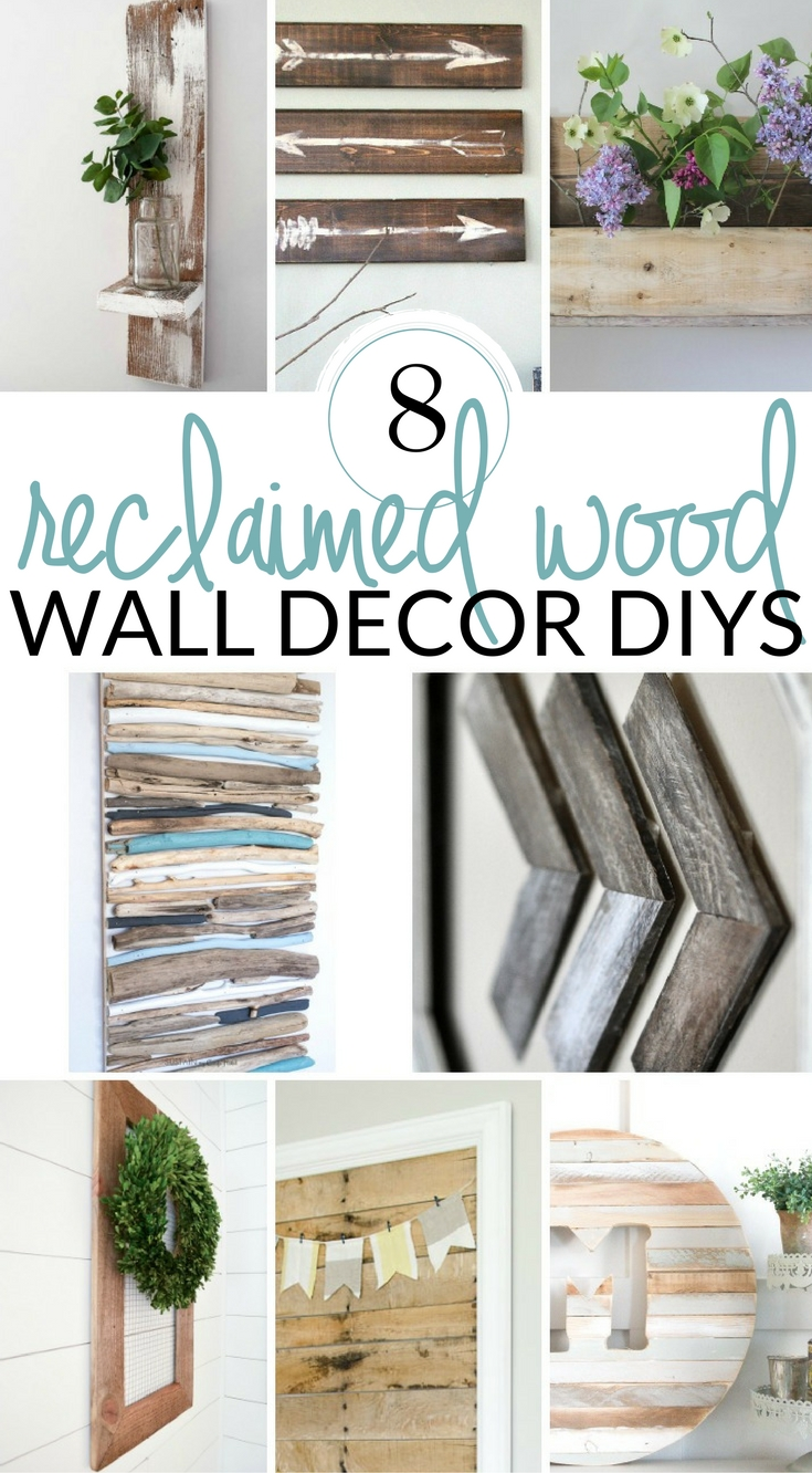 Diy farmhouse wall decor inspiration the crazy craft lady for Making wall decorations