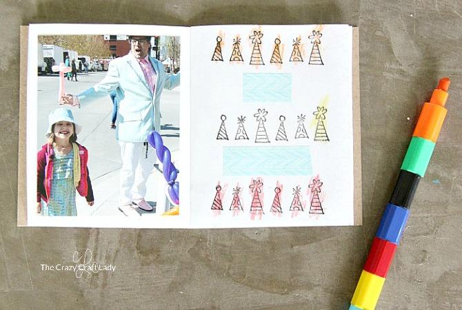 Memory Scrapbook Making A Mini Scrapbook With Kids The Crazy