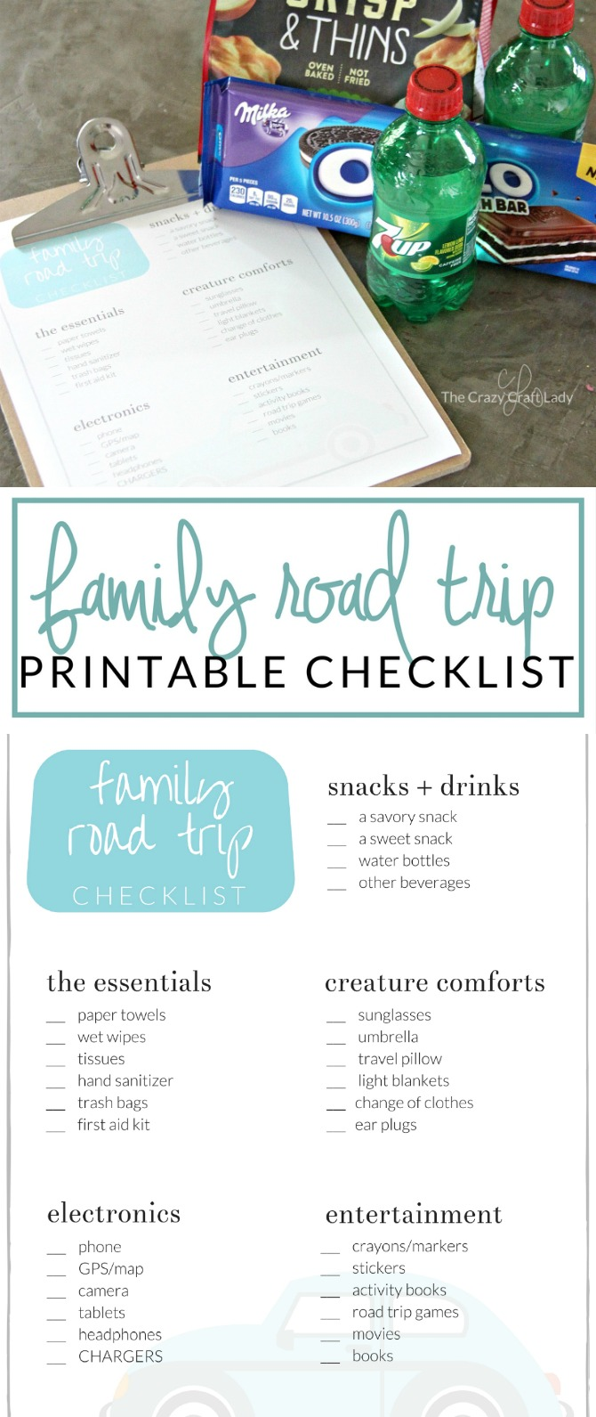 photograph about Printable Road Trip Checklist known as Household Highway Vacation Record: A Absolutely free Printable - The Nuts