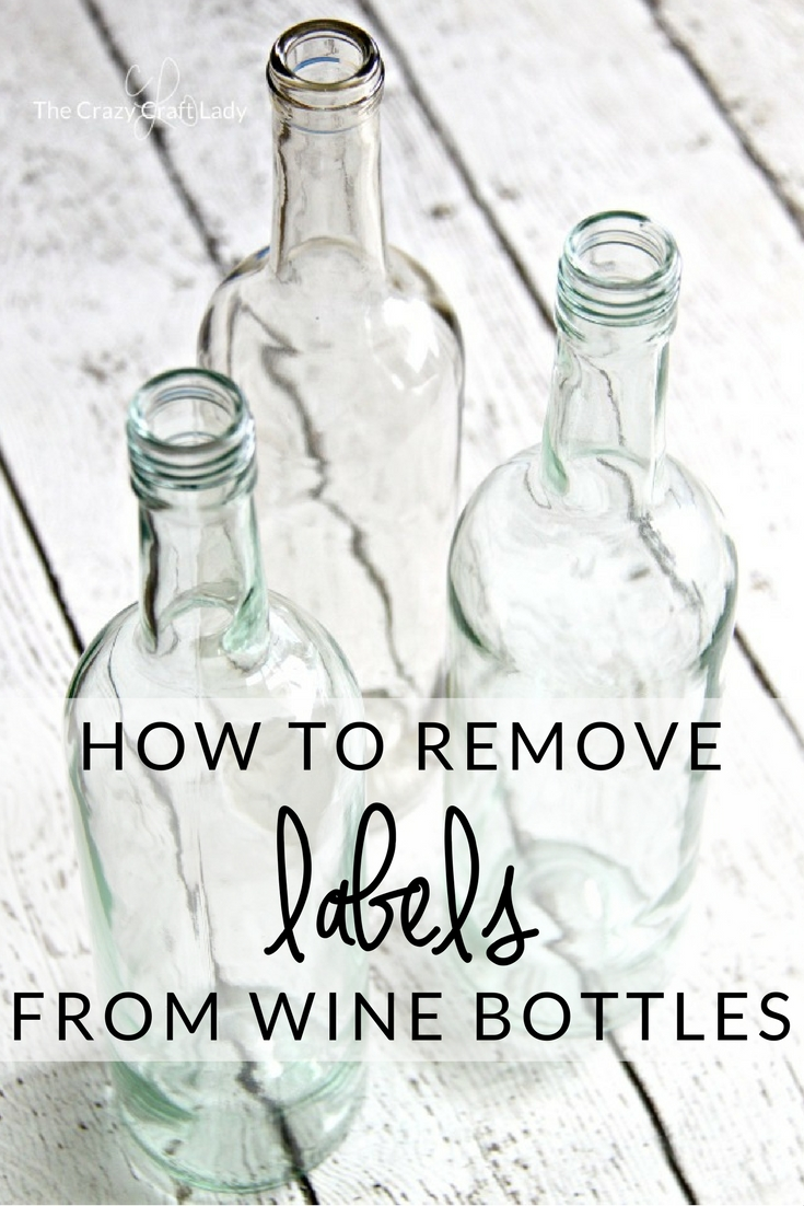 Come learn how to Remove Labels from Wine Bottles - the Easy Way! No need for soaking or special supplies. Discover the quickest and cleanest way to remove labels form glass bottles. This is a simple way to prep wine bottles to use in craft projects.