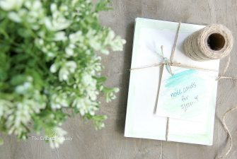 Make: Personalized Note Cards and a Simple Watercolor Tutorial