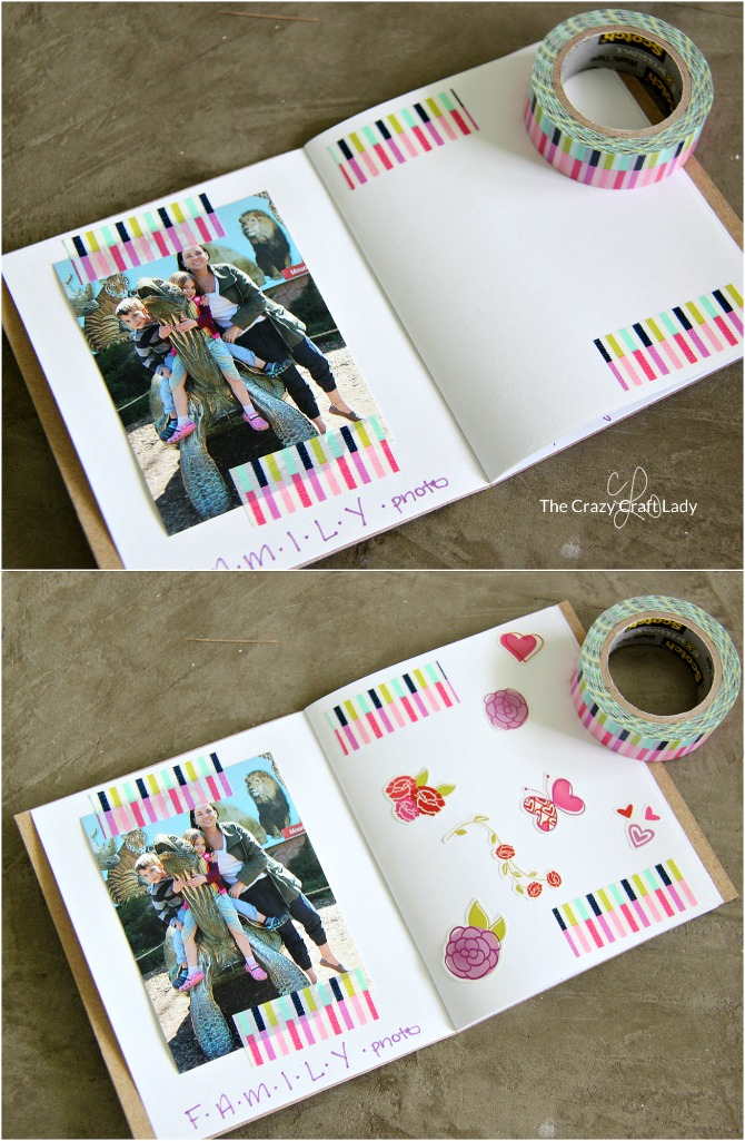 Memory Scrapbook Making A Mini Scrapbook With Kids The Crazy