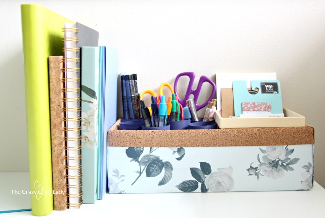 Making an Upcycled DIY Pen Organizer for your Work Space
