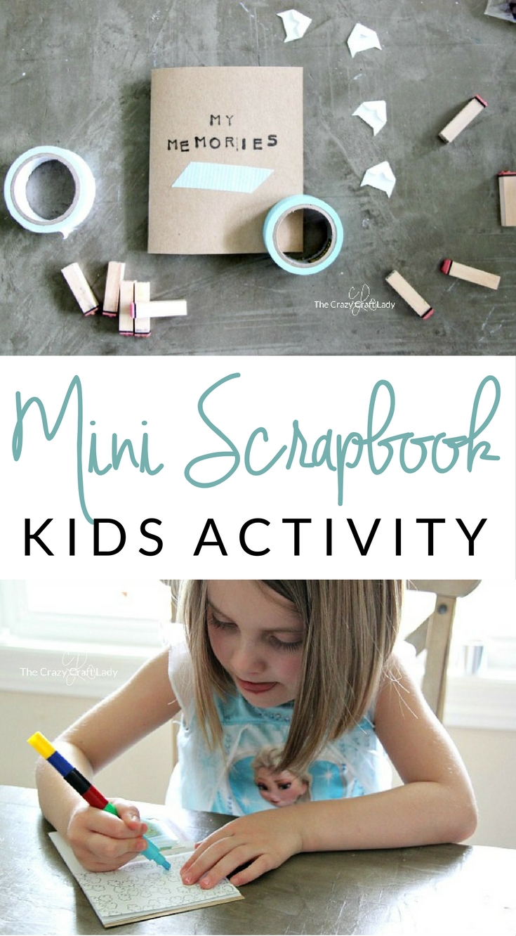 Memory Scrapbook: Making a Mini Scrapbook with Kids