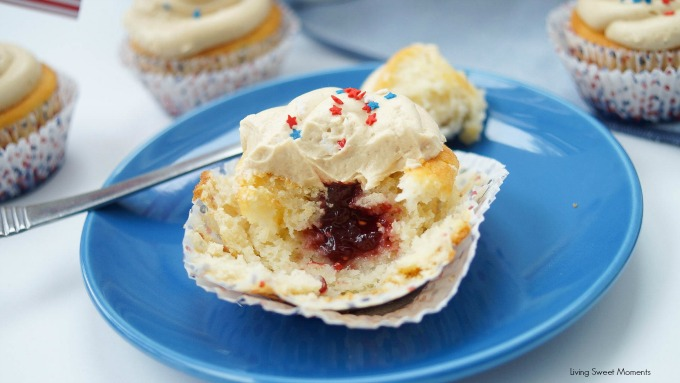 PB&J Recipes - so much more than just sandwiches! Peanut Butter And Jelly Cupcakes