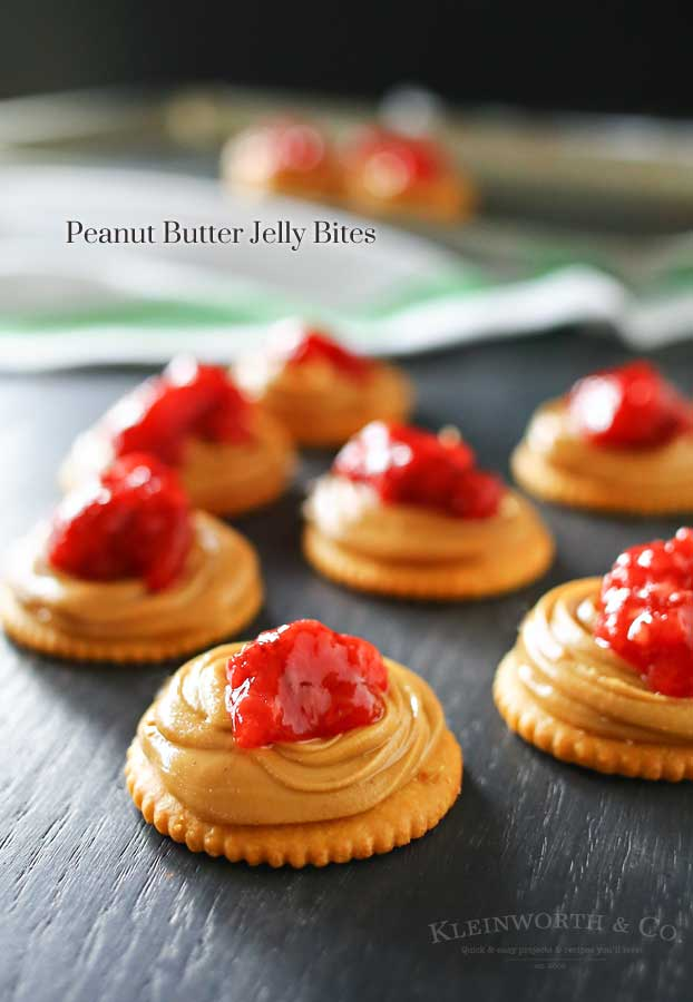 PB&J Recipes - so much more than just sandwiches! Peanut Butter Jelly Bites