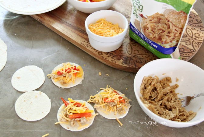 Make mini quesadilla sliders that the whole family will enjoy. This mini quesadilla recipe is a perfect option for appetizers, or a quick and healthy family dinner option. Use veggie pulled pork to make vegetarian quesadillas.