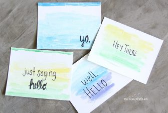 Quick Craft: Watercolor Cards with Quotes