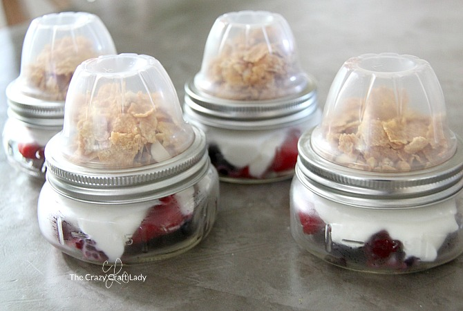 Save time on busy mornings with a tasty Make Ahead Yogurt and Berry Parfait. Layer ingredients in a Mason jar, while keeping the granola fresh until ready to eat. Give this easy recipe a try and make an on-the-go healthy breakfast that the whole family will enjoy.